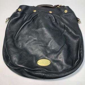 Mulberry Black Pebble Leather Hobo Tote Shoulder Bag